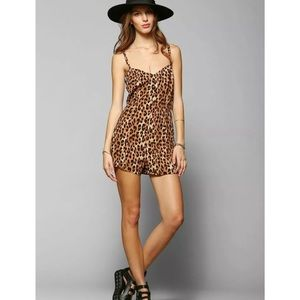Urban Outfitters Silence and noise cheetah romper